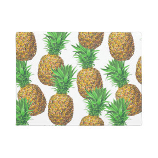 Seamless pattern with pineapples doormat