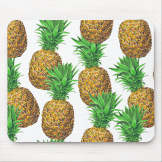 Seamless pattern with pineapples mouse pad
