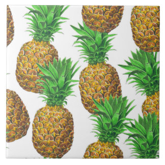 Seamless pattern with pineapples tile