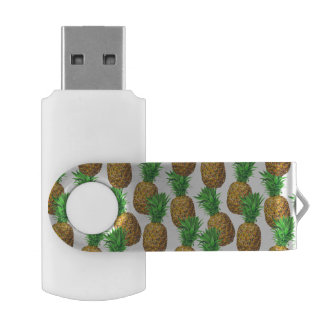 Seamless pattern with pineapples USB flash drive