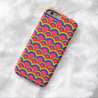 Seamless pattern with rainbows barely there iPhone 6 case