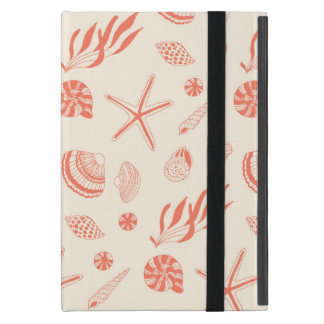 Seamless pattern with sea shells cases for iPad mini