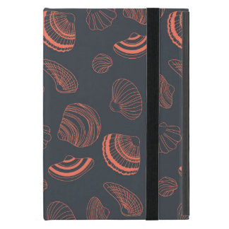 Seamless pattern with sea shells iPad mini covers
