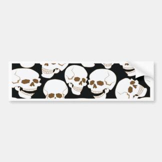 seamless pattern with skulls 3.2 bumper sticker