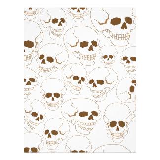 seamless pattern with skulls 3.2 letterhead