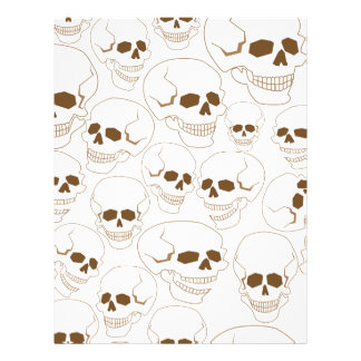 seamless pattern with skulls 3.2 personalized letterhead