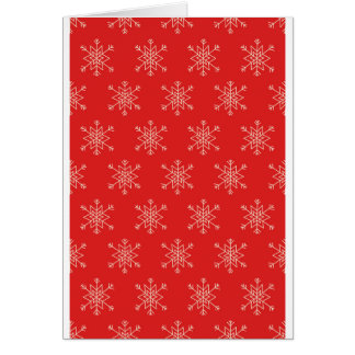Seamless pattern with snowflakes. Red background. Card