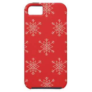 Seamless pattern with snowflakes. Red background. iPhone 5 Case