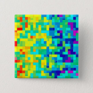 Seamless Pixel Pattern Background as an Artistic 2 Inch Square Button