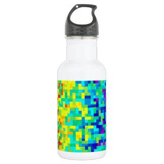 Seamless Pixel Pattern Background as an Artistic 532 Ml Water Bottle