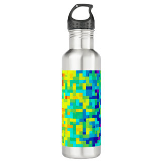 Seamless Pixel Pattern Background as an Artistic 710 Ml Water Bottle
