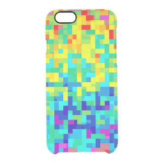 Seamless Pixel Pattern Background as an Artistic Clear iPhone 6/6S Case