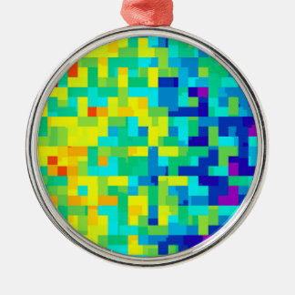 Seamless Pixel Pattern Background as an Artistic Metal Ornament