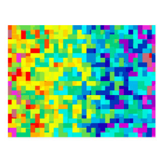 Seamless Pixel Pattern Background as an Artistic Postcard