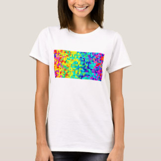 Seamless Pixel Pattern Background as an Artistic T-Shirt