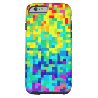 Seamless Pixel Pattern Background as an Artistic Tough iPhone 6 Case