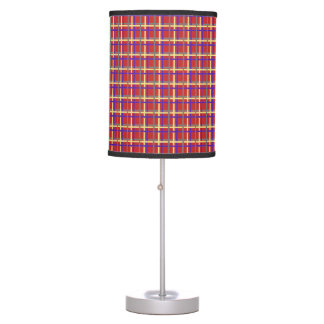 Seamless plaid pattern table lamp