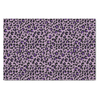 Seamless Purple Jaguar Wild Cat Animal Print Tissue Paper