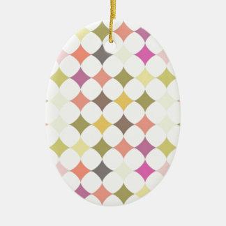 Seamless Retro Ceramic Oval Ornament