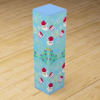 Seamless Santa pattern Wine Gift Box