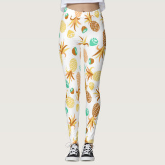 Seamless summer fruits pattern leggings
