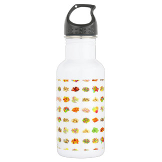Seamless Sweets and Candy Pattern Background 532 Ml Water Bottle