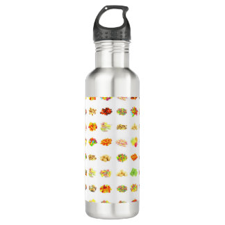 Seamless Sweets and Candy Pattern Background 710 Ml Water Bottle