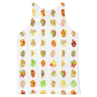 Seamless Sweets and Candy Pattern Background All-Over-Print Tank Top