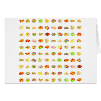 Seamless Sweets and Candy Pattern Background Card