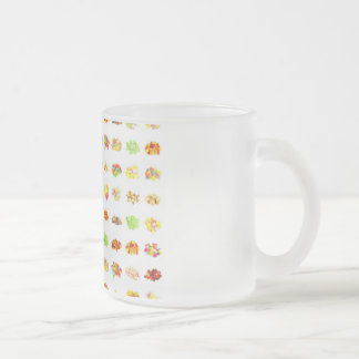Seamless Sweets and Candy Pattern Background Frosted Glass Coffee Mug