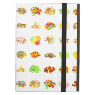 Seamless Sweets and Candy Pattern Background iPad Air Covers