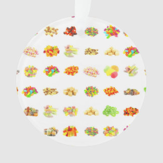 Seamless Sweets and Candy Pattern Background Ornament