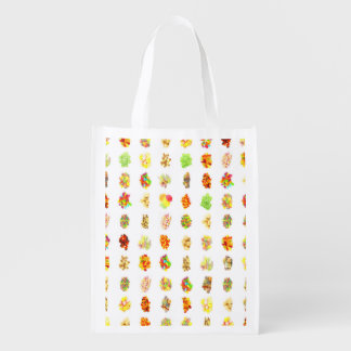 Seamless Sweets and Candy Pattern Background Reusable Grocery Bag
