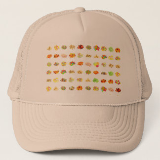Seamless Sweets and Candy Pattern Background Trucker Hat