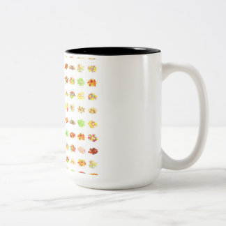 Seamless Sweets and Candy Pattern Background Two-Tone Coffee Mug