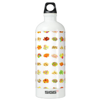 Seamless Sweets and Candy Pattern Background Water Bottle