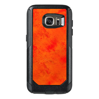 Seamless Texture Background Abstract Orange And OtterBox Samsung Galaxy S7 Case