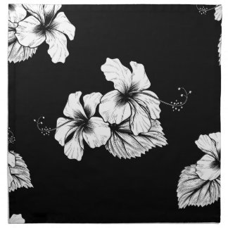 Seamless Tropical Hibiscus Flowers Background Napkin
