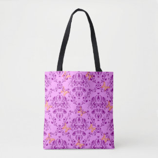 Seamless Vector Pattern with Butterfiles Tote Bag