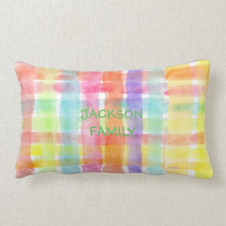 Seamless Watercolor Pattern by storeman Lumbar Pillow
