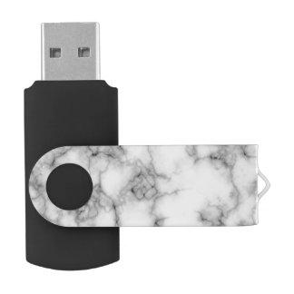 seamless white marble usb flash drive swivel USB 3.0 flash drive