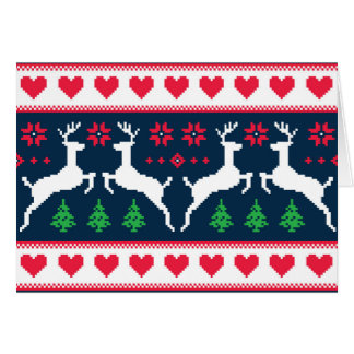Seamless winter pattern Christmas card