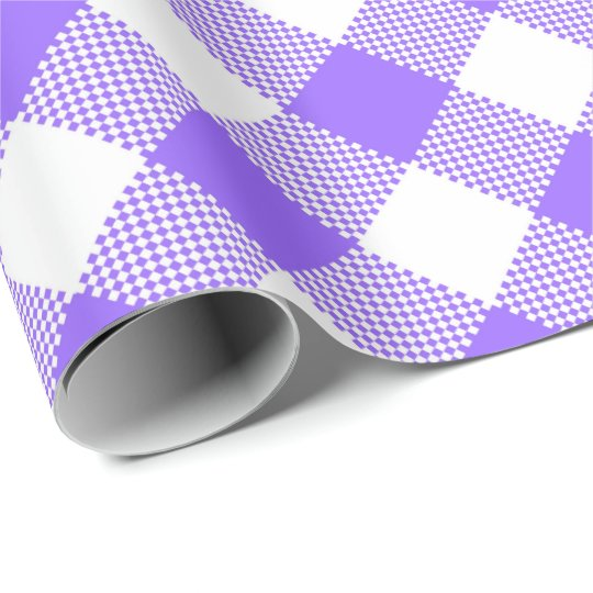 Seams Match: Purple n White Gingham Wrapping Paper