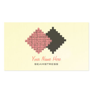 Seamstress Business Card - Fabric Swatches