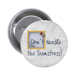 Seamstress 2 Inch Round Button