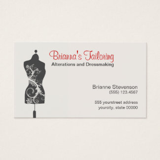 Seamstress Mannequin Mannequin Business Card