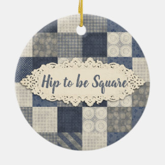 Seamstress quilter quilting Christmas ornament