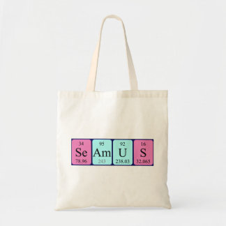 Seamus periodic table name tote bag