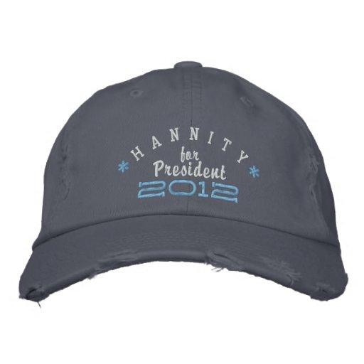 Sean Hannity pour le président 2012 Chapeau Brodé