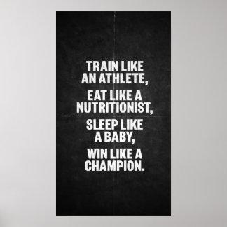 Séance d entraînement de motivation posters